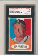 1961 topps Signed #223 Bob Scheffing Tigers SGC authentic