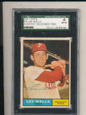 1961 topps Signed #78 Lee Walls Phillies  SGC authentic