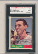 1961 topps Signed #355 Bob Allison Twins  SGC authentic