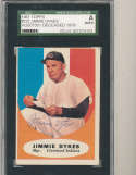 1961 topps Signed #222 Jimmie Dykes Indians  SGC authentic