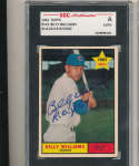 1961 topps Signed #141 Billy Williams cubs Rookie SGC authentic