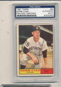 1961 topps Signed #95 Norm Cash Tigers  psa/dna authentic