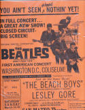 1964 2/11 The Beatles Direct TV First American Concert San Mateo Theater Promotional Poster