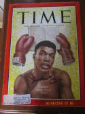 Cassius Clay Muhammad Ali Signed Autograph 1963 Time Magazine PSA/DNA