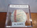 1988 Oakland Athletics A's Signed Team ball 31 signatures psa auction house letter AL Champs