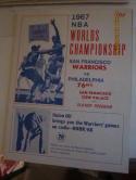 1967 NBA Warriors vs 76ers Championship Program & Ticket gm 4 em unscored. & newspaper wri
