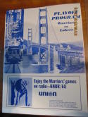 1968 San Francisco Warriors vs Lakers Playoff unscored program & ticket stubs