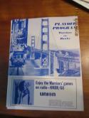 1968 San Francisco Warriors vs Hawks Playoff unscored program & 3 ticket stubs