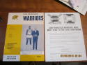 1964 NBA Warriors vs hawks playoff unscored em/nm Program 4 Tickets Wilt Chamberlain