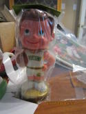 1970's Basketball SEATTLE SUPER SONICS BOBBLE HEAD NODDER W/BOX White Jersey unopen