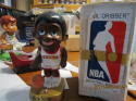 1969 Basketball New York Knicks BOBBLE HEAD NODDER W/BOX white Jersey lil dribber unopen