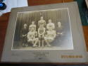 Philadelphia Greystock Grey's 1917 Eastern League Pro Basketball Champions Team Portrait Cabinet