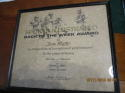 Sports Illustrated Back of the Week Award Tom Matte Baltimore colts signed Award