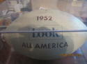 1952 Look All America Signed Football 24 signatures Billy Vessels (heisman)
