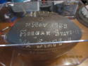1955 11/25 Morgan State vs VA State Game Ball to Don Chapman #82