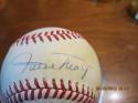 Willie Mays Giants Signed Baseball EM Charles Feeney NL Rawlings tone ball
