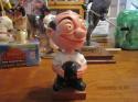 1960's Bowler big butt bald head bobble Head nodder gold base