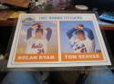 Nolan Ryan & Tom Seaver New York Mets Signed large 13x18 poster 1990 ACME Card