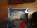 Tim Wallach Expos Signed Baseball Bobby Brown OAL baseball