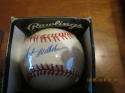 Hoyt Wilhelm Signed Baseball Bobby Brown OAL baseball