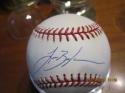 Lance Berkman Signed Baseball OAL tristar sticker baseball bx2