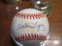 Hector Lopez Yankees Signed Baseball OAL bx2