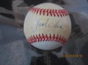 Jack Clark Signed Baseball OAL Bobby Brown toned ball