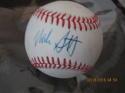 Mike Scott Astros Signed Baseball OAL Charles Feeney  bx2