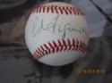 Ed Figueroa Yankees Signed Baseball OAL Bobby brown  bx2