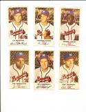 1954 Johnston Baseball Complete Set Hank Aaron Rookie
