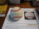 Lefty Gomez Giants Signed Autographed OAL brown Baseball JSA certified white