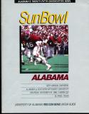 1983 Sun Bowl Alabama Media Press guide
