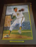 Catfish Jim Hunter a's Signed Perez Steele Great Moments HOF card