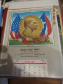 1977 Roberto Clemente Calendar 14x10  em