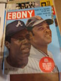 Hank Aaron & Willie Mays June 1971 Ebony magazine nm