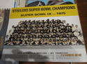 Steelers Super Bowl IX Champions 1974  Team picture cardboard back