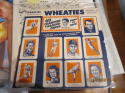 1951 Wheaties uncut sheet 10 cards George Mikan Otto Graham