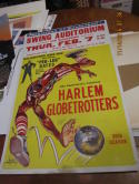 1962 Harlem Globetrotters cardboard promotional Display 14x20