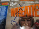 Signed Sammy Baugh Redskins Wheaties unfolded box