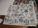 1976 uncut sheet 24 card Phoenix Giants Jack Clark Poster bx