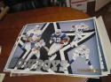 Troy Aikman & Emmitt Smith Dallas Cowboys Poster 22x18  art Becky Kinloch