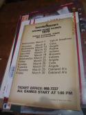 1979 Seattle Mariners Spring training Home Game schedule poster 13x20