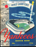 1952 New York Yankees Yearbook Signed by 12 players Phil Rizzuto, Johnny Mize