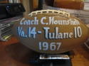 Entire Team Signed 1967 University of Virginia vs Tulane Game Ball