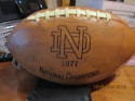 1977 Notre Dame Football national Champions Team Signed Ball Joe Montana