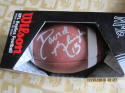 david Klingler Houston Signed Wilson Pro Football (deflated)