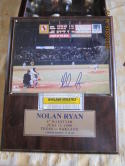 Nolan Ryan Signed limited edition photo and 6th no hitter ticket framed & cert