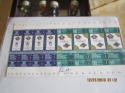 Nolan Ryan Signed uncut sheet of World series tickets at Arlington Stadium