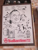 ballantine Beer & ale Baseball Sign Bill Gallo artist  10.5 x 13