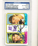 1974 topps card Signed #335 Bert Campaneris & Chris Speier psa/dna